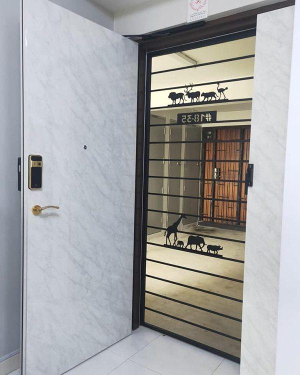 Epic ES F500D mạ vàng 24k cửa thông phòng biệt thự, chung cư cao cấp