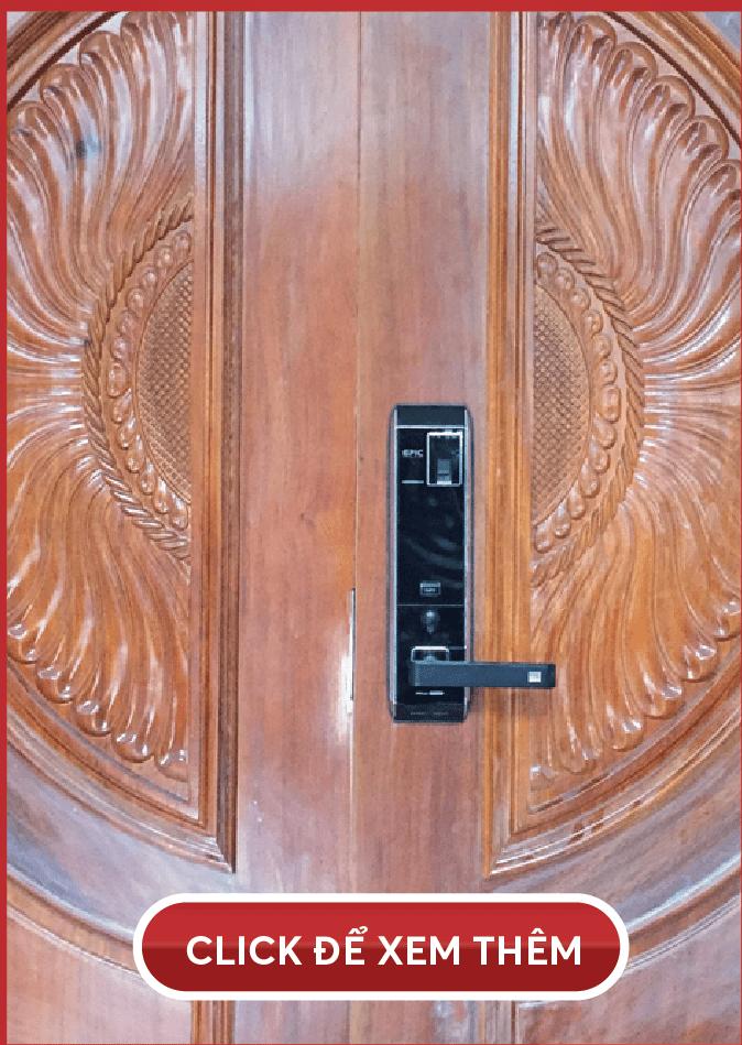 khóa vân tay epic 8000l - lắp cửa đại sảnh