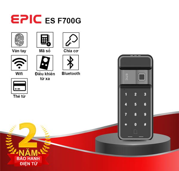 khóa điện tử 2 chiều thông minh F700G trên cửa