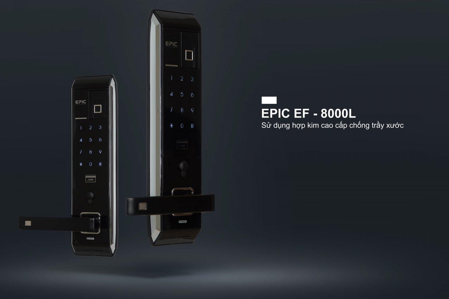 chất liệu hợp kim cao cấp bền của khóa vân tay epic 8000L