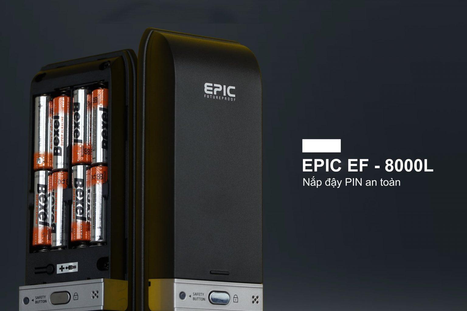 nắp pin chắc chắn an toàn - pin chính hãng bexel epic 8000L