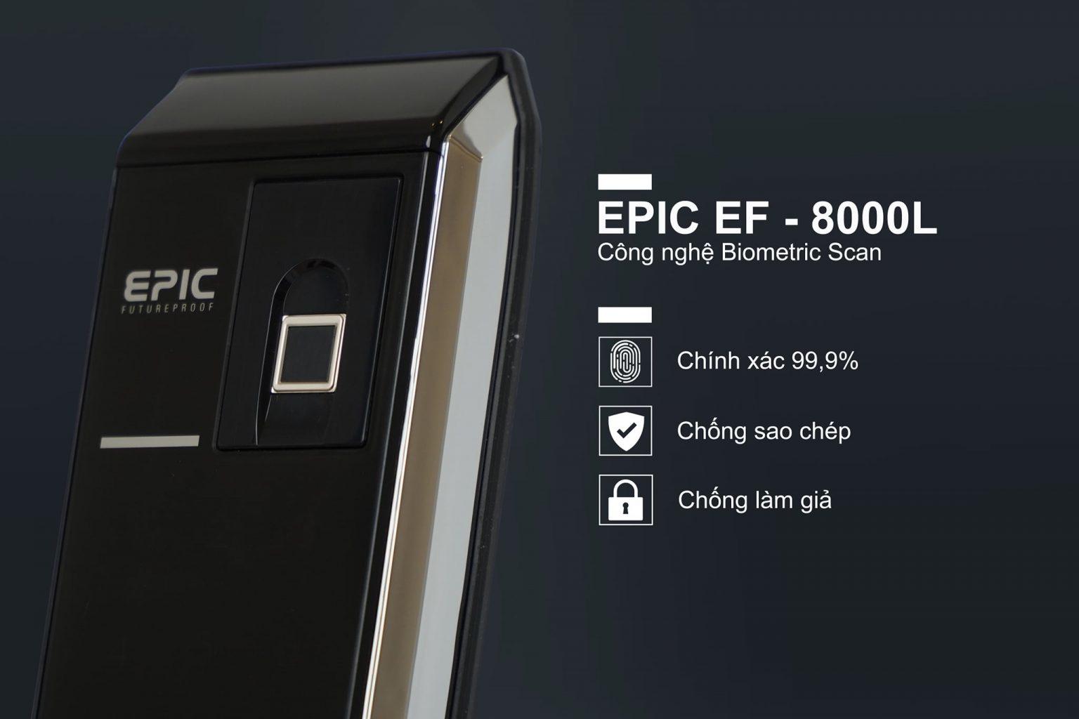 khóa vân tay điện tử Epic 8000L biometricscan