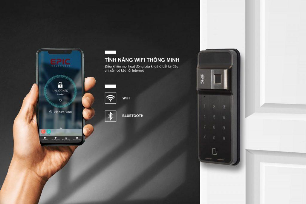 điều khiển wifi thông minh khóa vân tay Epic F730G
