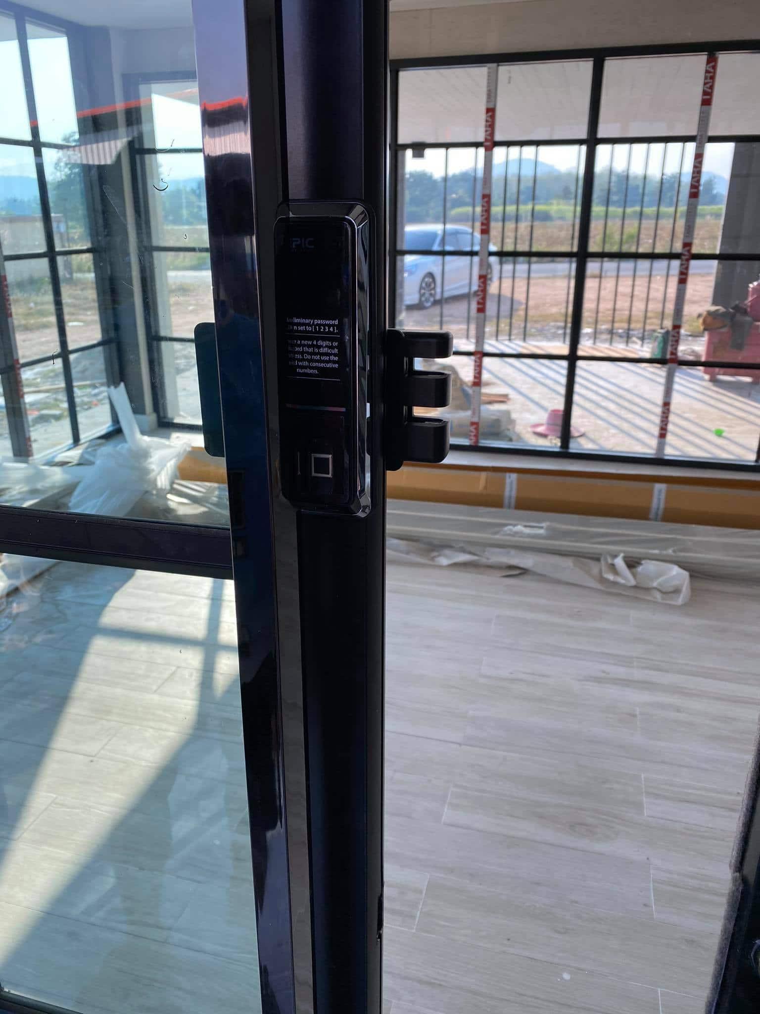 Epic popscan H lắp cửa nhôm kính 2 cánh trượt lùa