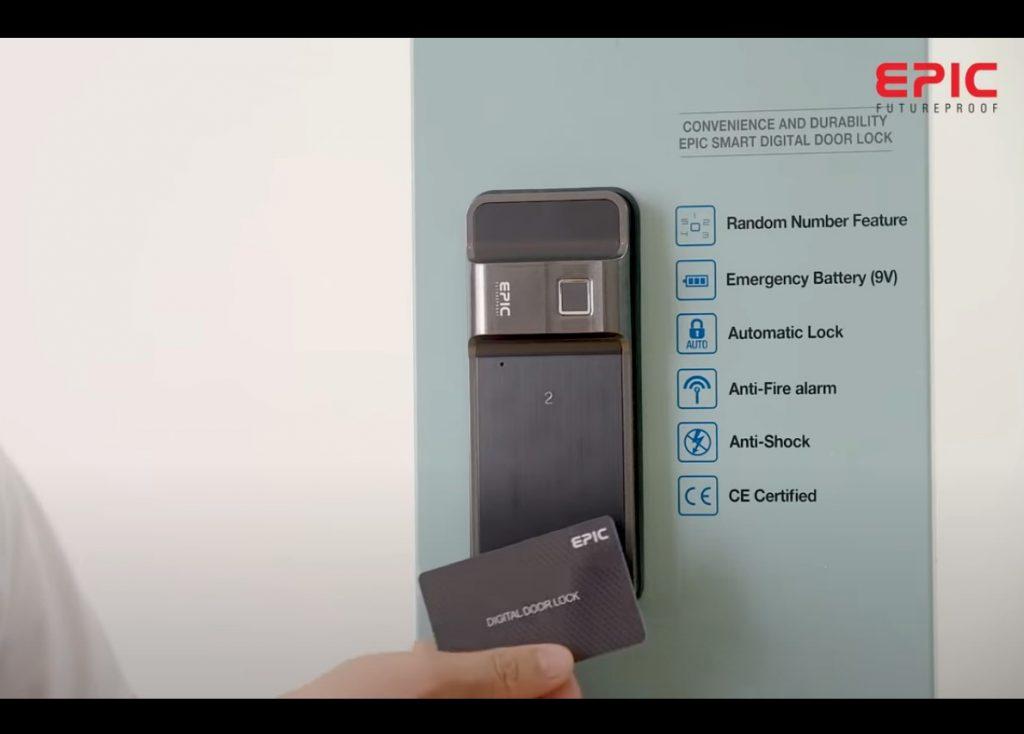Epic f500D - cài đặt thẻ từ