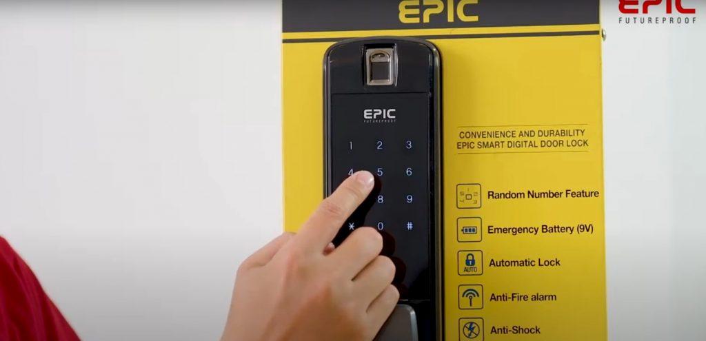 Cài đặt mã số Epic P8800K